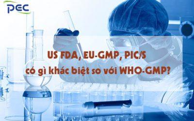 Khác biệt giữa US FDA, EU-GMP, PIC/S so với tiêu chuẩn WHO-GMP
